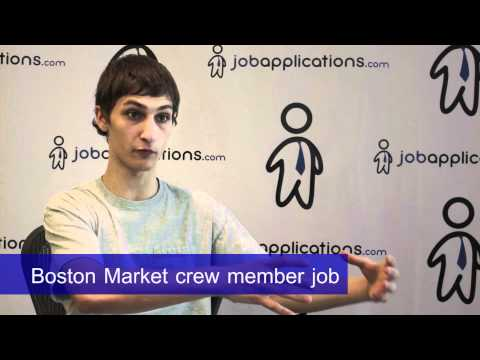 Boston Market Interview - Crew Member