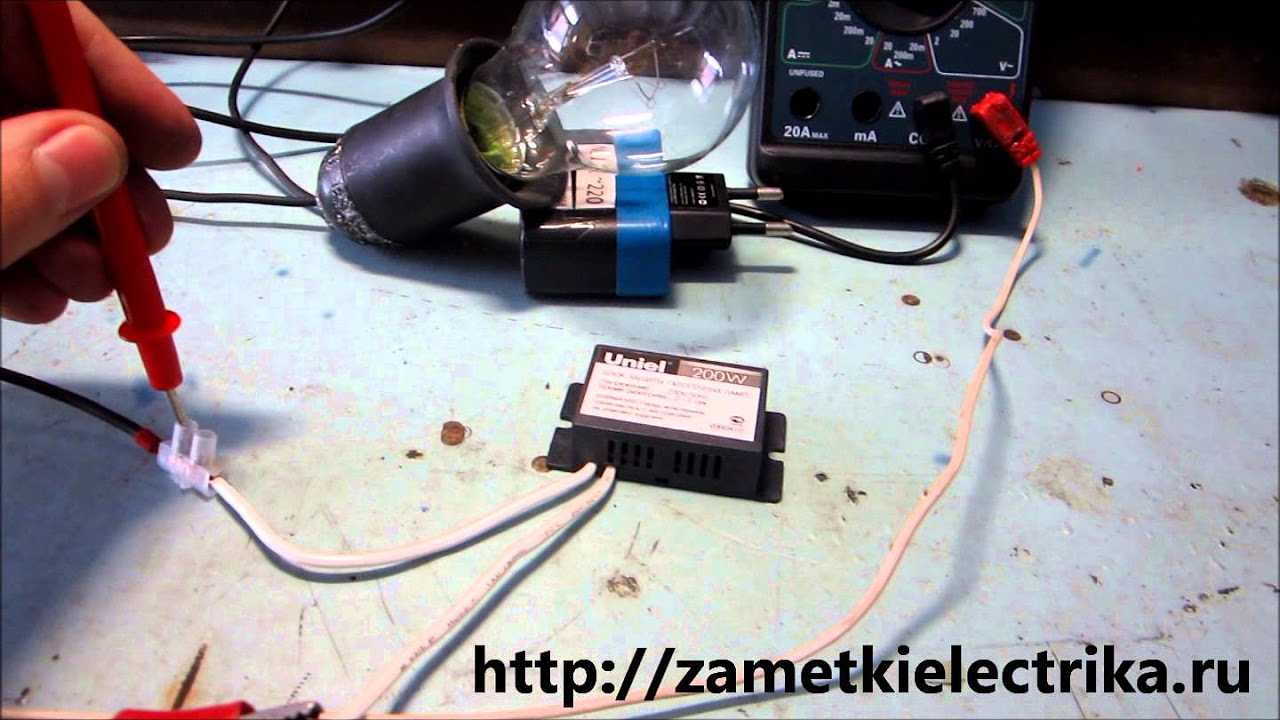 схема трансформатора электрон галогенных ламп