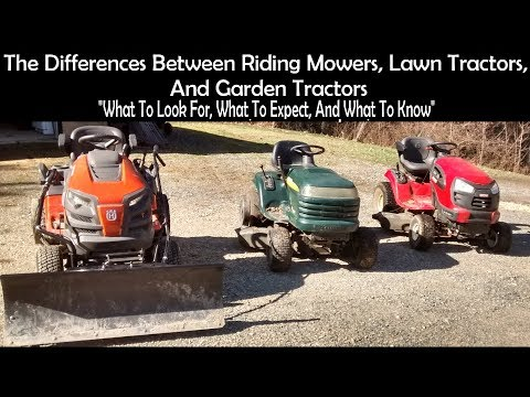 Differences  Between  Riding Mowers,Lawn Tractors,Yard Tractors, and Garden Tractors.