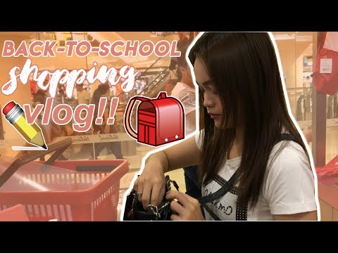 BACK-TO-SCHOOL SHOPPING VLOG 2018! Philippines (magpapasukan nanaman! 😢😂) | Monica Garcia Vlogs ♡