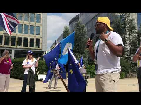 Magid Magid at Yorkshire for Europe Brussels Rally