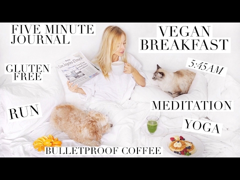 MY HEALTHY MORNING ROUTINE | Vegan Breakfast, Bulletproof Coffee, 5 Minute Journal, Yoga, Meditation