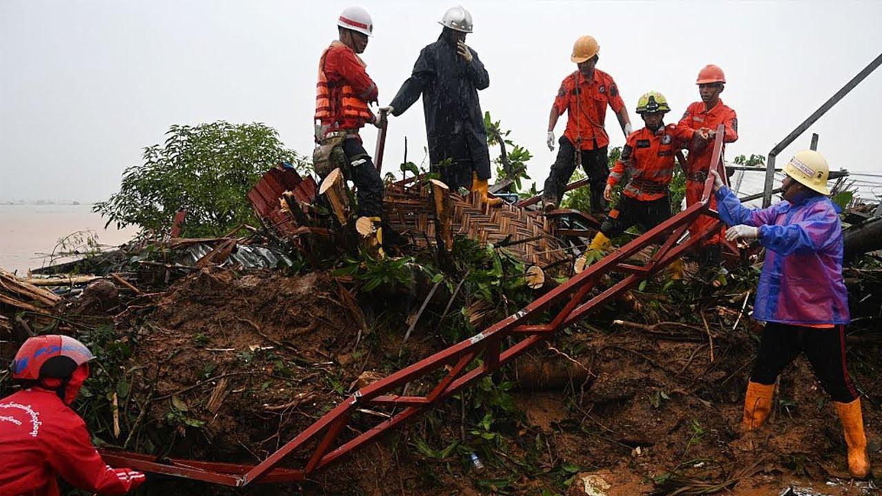 34 people killed, dozens more feared missing in Myanmar landslide