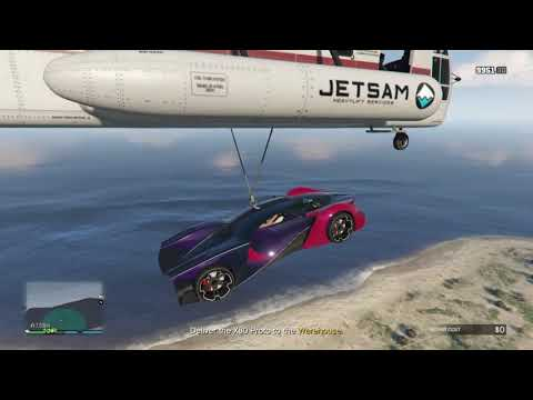 GTA 5 - Import/Export - Movie stunt jump stealth way (Lago Zancudo)