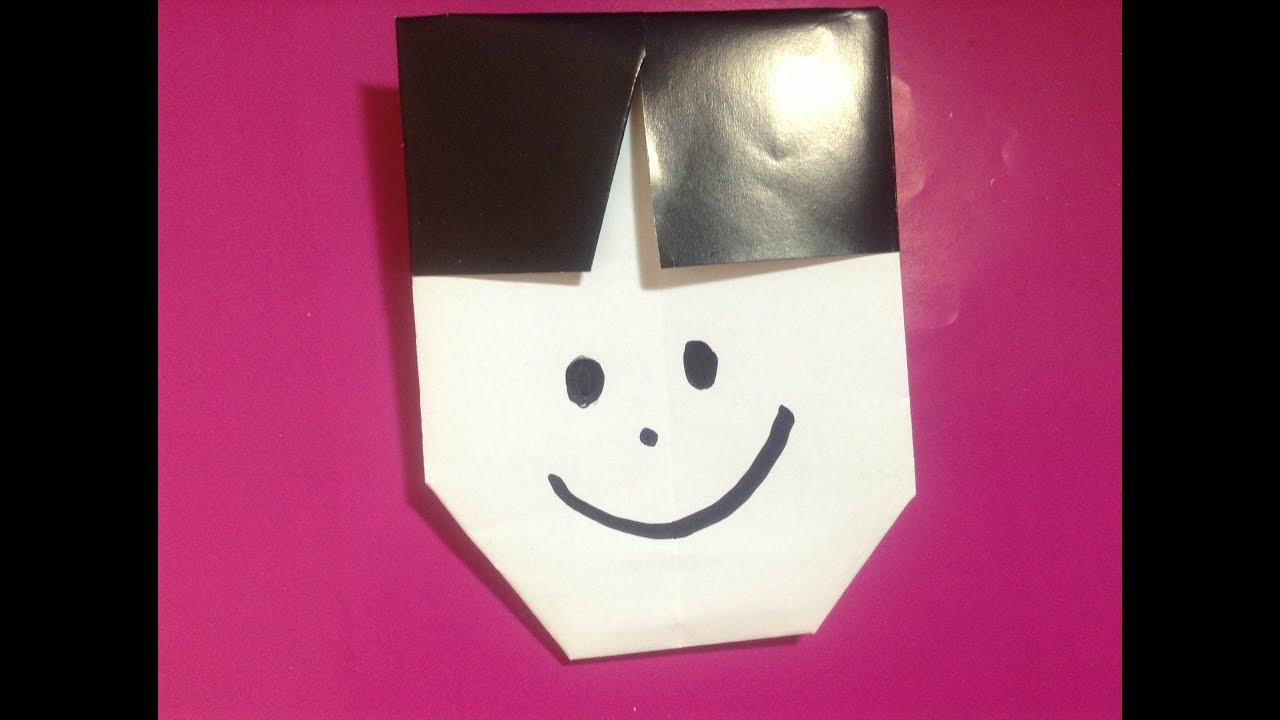 Origami Paper Boy - YouTube - photo#6