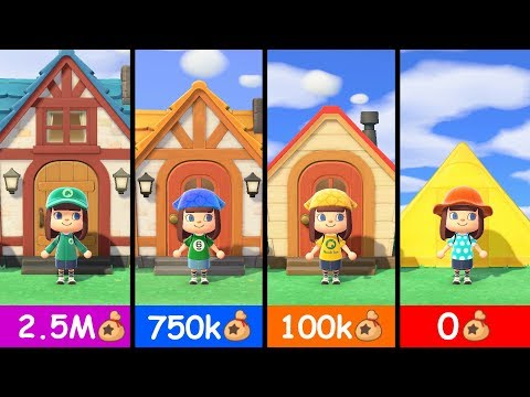 Animal Crossing New Horizons - All House Upgrades