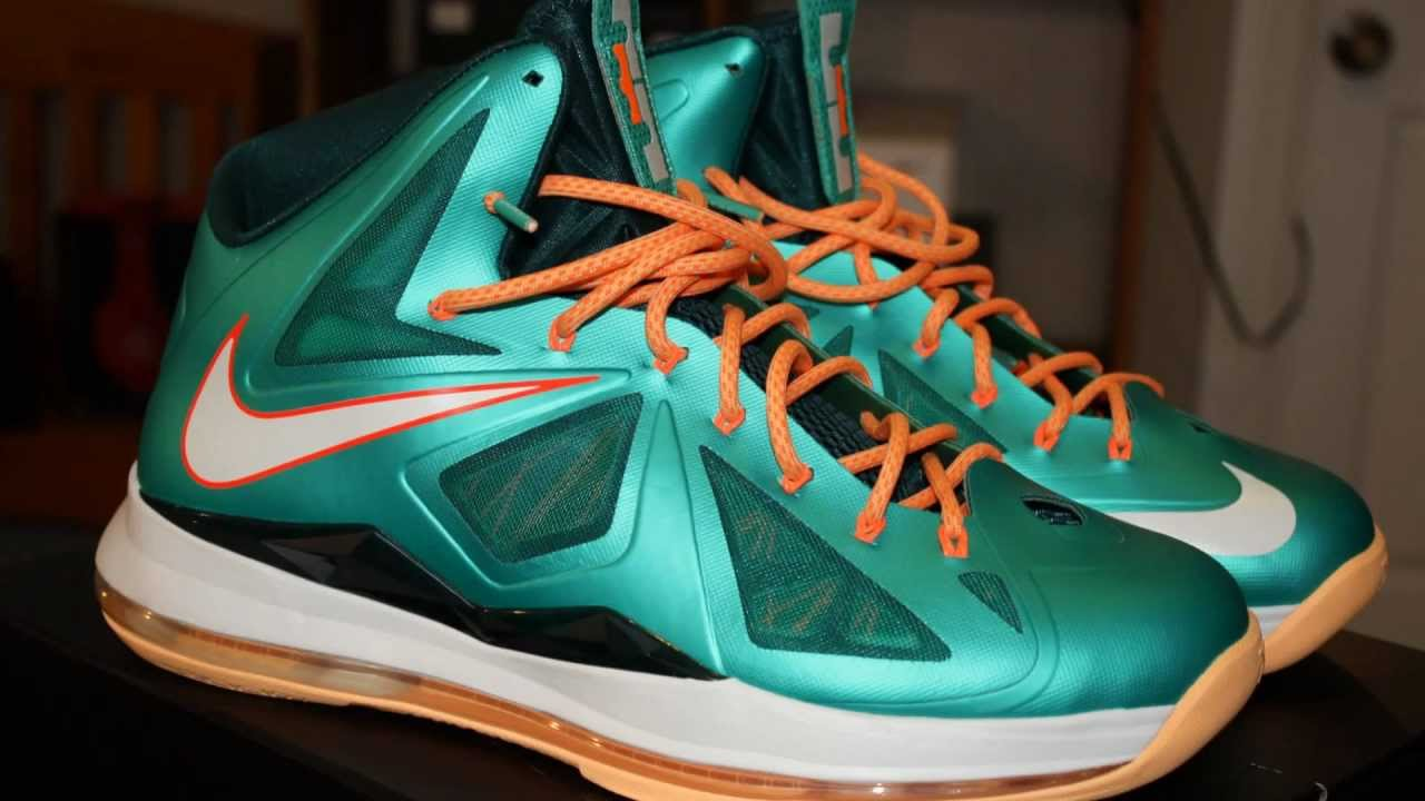 da643d6b9257 Nike Lebron 10 X Miami Dolphins Settings Sneaker Review + On Feet - YouTube  ...