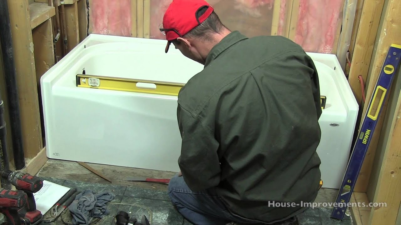 How to install a bath tub youtube for Tub liner installation