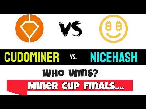 NiceHash Vs CudoMiner | Profitability | Miner Cup Finals