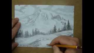 рисуем пейзаж(рисуем горный пейзаж., 2013-04-17T09:27:38.000Z)