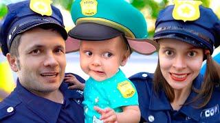 Песня про полицию и другие профессии - Детская песня. Песни для детей от Майи и Маши