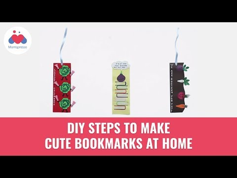 Make Cute And Funky Bookmarks At Home | Paper DIY Ideas | Paper Bookmarks | Momspresso