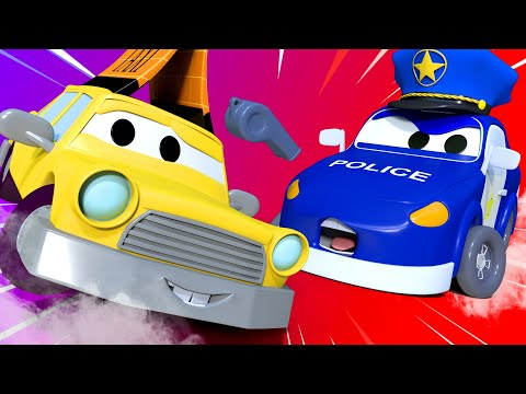 "Baby Cars -  The Baby Cars Are Playing ""stop, Police!"" - Car City ! Cars and Trucks Cartoon for kids"