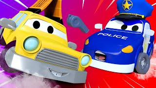 "Kids car cartoon -  ""stop, Police!"" - Car City ! Cars and Trucks Cartoon for kids"