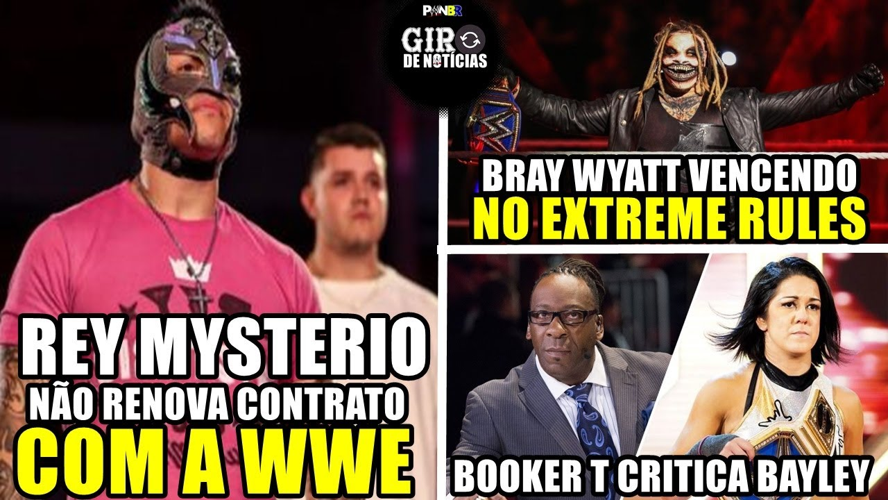 BOMBA !!! REY MYSTERIO FORA DA WWE, THE FIEND BRAY WYATT GANHANDO NO EXTREME RULES - NOTICIAS WWE