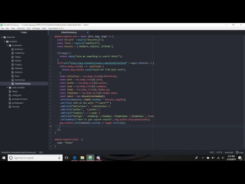 Discord.js Bot Tutorial Ep 5: Reporting and Urban Dictionary - YouTube