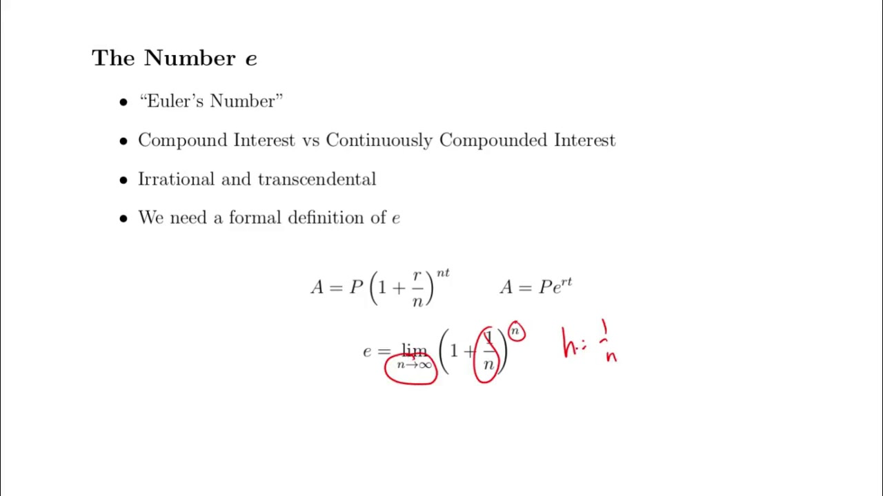 Derivative of the Exponential Function - YouTube