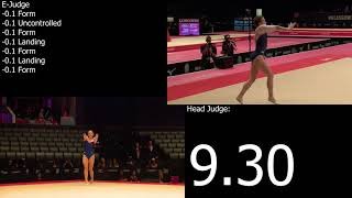 Ksenia Afanasyeva (RUS) Floor TQ E-Score 2015 Glasgow World Championships