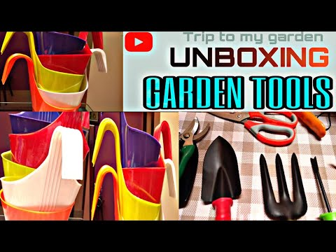 UNBOXING Garden Tools And Pots From AMAZON