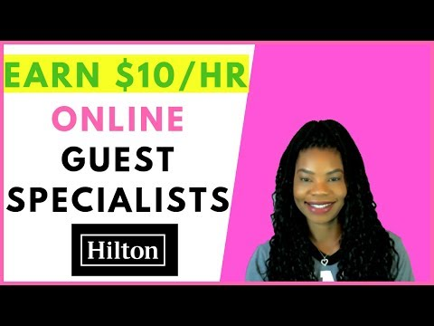 Hilton Hotels is Hiring Online Guest Specialists! | Online, Remote Work From Home Jobs February 2019