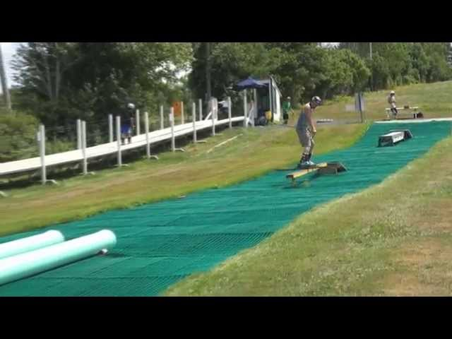 Summer Park Setup at Ski Ward - July 2014