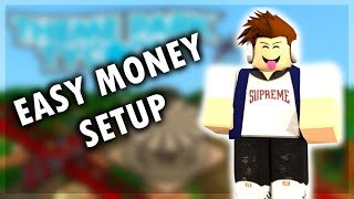 Easy Money Setup/Glitch || Roblox Theme Park Tycoon 2