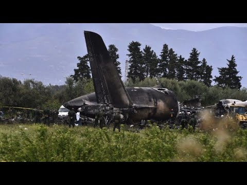 Over 250 dead as military plane crashes in Algeria