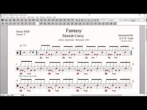 Drum Score World (Sample) - Mariah Carey - Fantasy