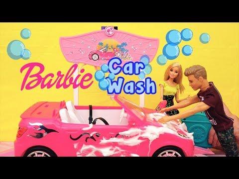 Barbie Salão do Automóvel Chelsea, Skipper e Stacy Decoram o Carro da Barbie -Brinquedonovelinhas