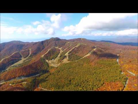 初秋の磐梯山と猪苗代湖 (Autumn leaves of Fukushima Prefecture)