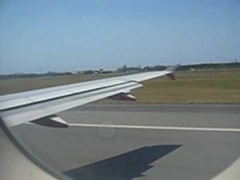 Airbus A320 Plane Take Off Window Seat View Youtube