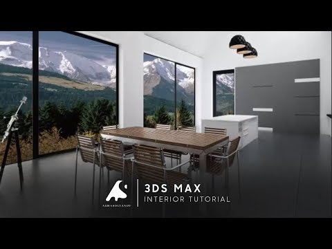 3D Max Creative Modern Interior Design Modeling Tutorial + Photoshop 2016