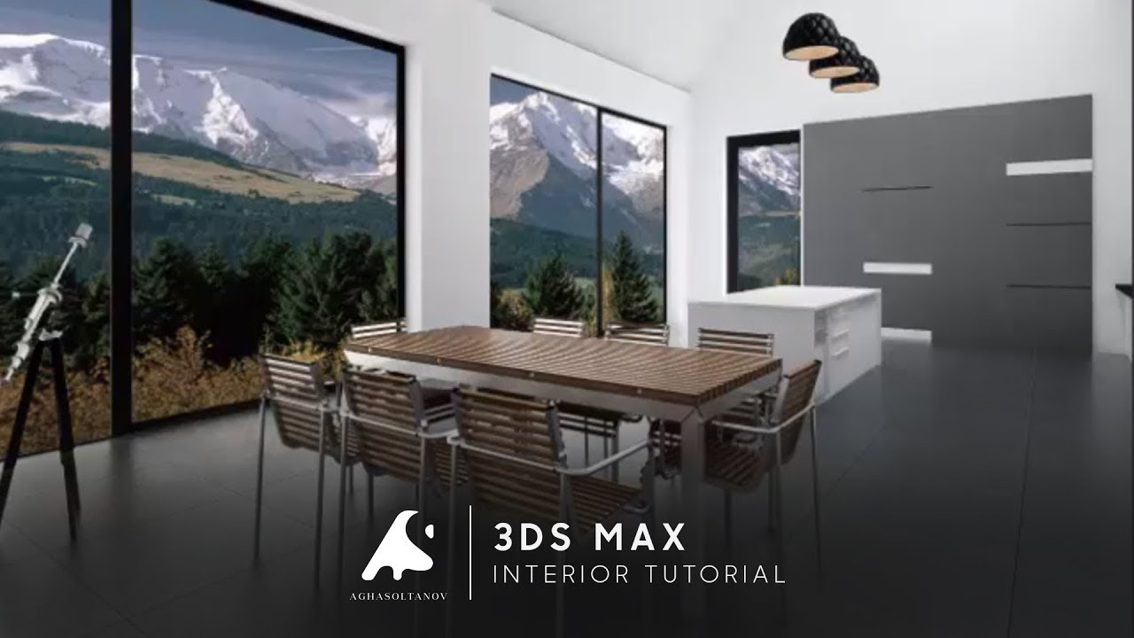 3D Max Creative Modern Interior Design Modeling Tutorial Photoshop 2016