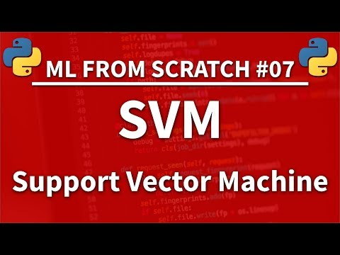 SVM (Support Vector Machine) in Python - Machine Learning From Scratch 07 - Python Tutorial