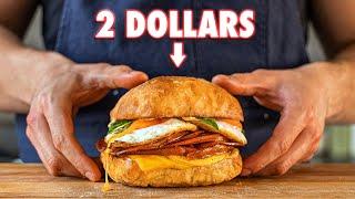 The 2 Dollar Gourmet Breakfast Sandwich   But Cheaper