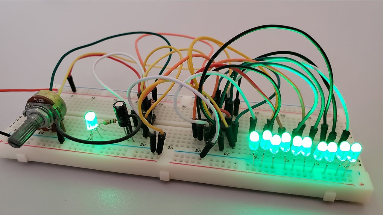 Secuencial de 10 LEDs