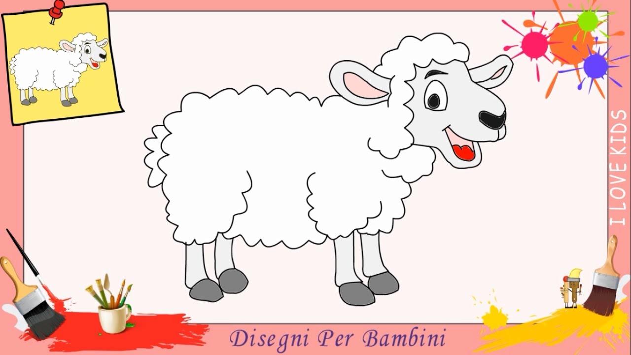 Disegni di pecora come disegnare una pecora facile per for Pesci da disegnare per bambini