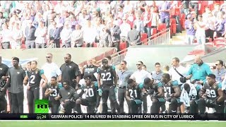 Kneeling to Criticism? NFL Puts Anthem Policy on Hold thumbnail