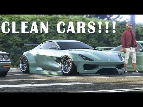 INSANE CLEAN GTA 5 ONLINE CAR MEET