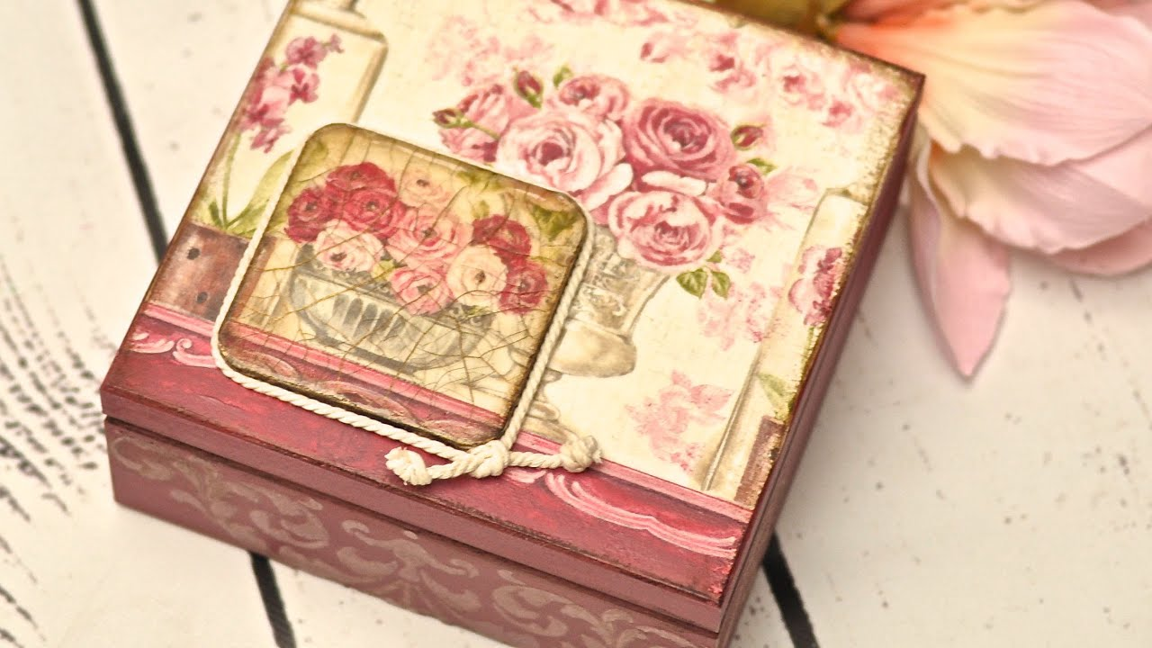 Decoupage box tutorial DIY By Catherine YouTube