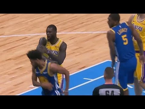 Lance Stephenson Throws Punch At Quinn Cook and Gets Ejected! Lakers vs Warriors