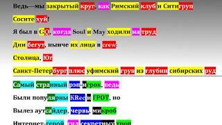 Скачать Oxxxymiron Konstrukt Rhyme Scheme