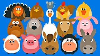 Learning Farm Animals for Kids - Fun Teaching Animals Video for Toddlers - Stacking Tsum Tsum Style