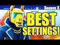BEST FORTNITE CONSOLE SETTINGS SEASON 10 - PS4/XBOX SEASON X BEST SETTINGS/SENSITIVITY!