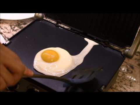Over-Easy Eggs on An Electric Grill