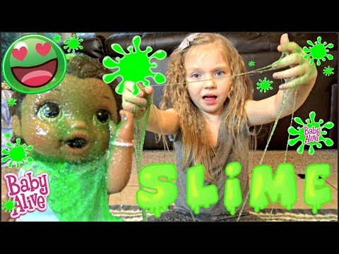 BABY ALIVE has a SLIME PARTY! FRIENDS and FALLS! The Lilly and Mommy Show. The TOYTASTIC Sisters