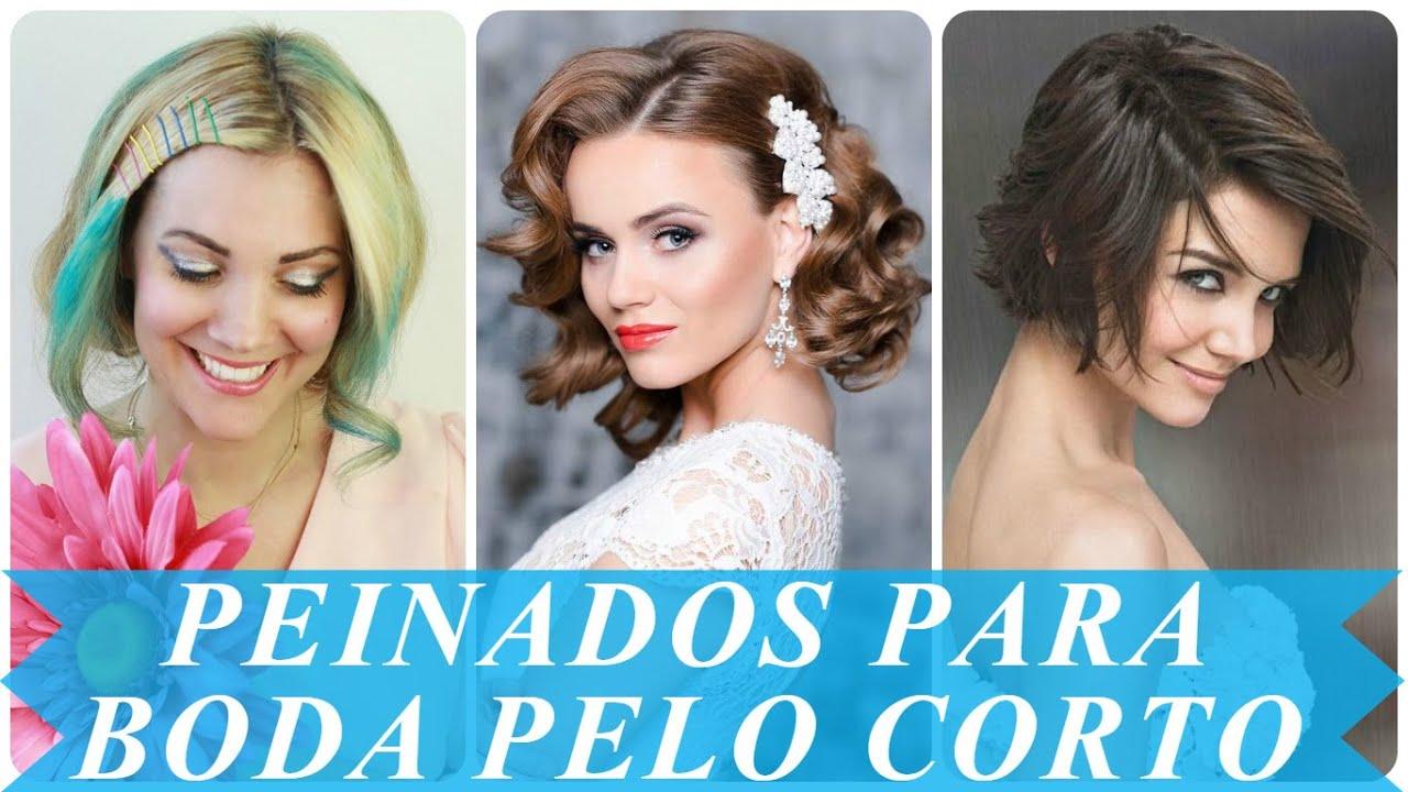 Cómo conseguir un peinados invitada boda pelo corto Imagen de estilo de color de pelo - Peinados para boda pelo corto - YouTube