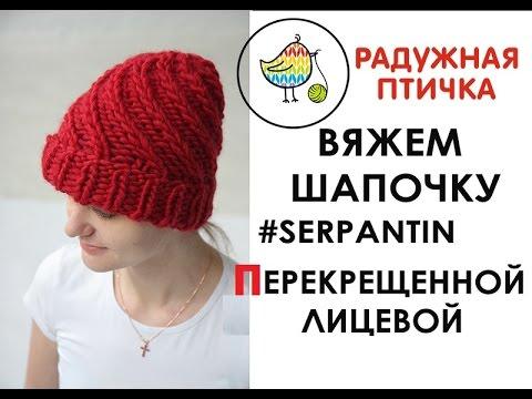 Связать шапку из толстой пряжи круговыми спицами