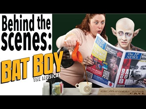 Bat Boy The Musical Poster Photoshoot Behind the Scenes