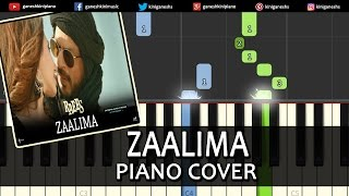 Zaalima Raees|Shah Rukh Khan|Hindi Song|Piano Chords Tutorial Instrumental Karaoke By Ganesh Kini
